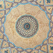 Brickwork inside dome of the mosque - Stock Photo