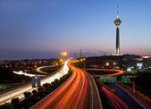 Tehran at night — Stock Photo