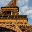 Eiffel Tower and blue sky - Stock Photo