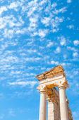 Top of the Sanctuary of Apollo Hylates opposite blue sky — Stock Photo