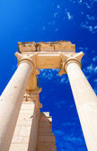 Columns of The Sanctuary of Apollo Hylates opposite blue sky — Stock Photo