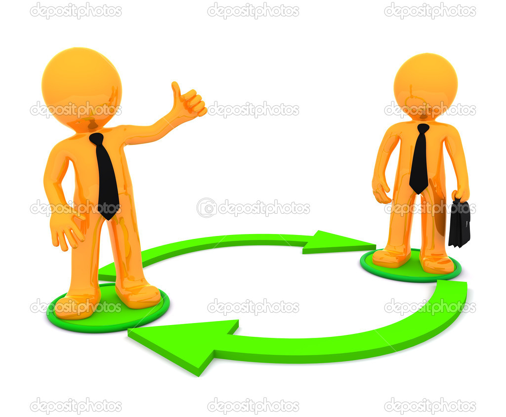 Business communication. Conceptual illustration — Stock ...