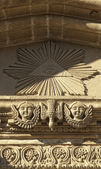 Stone carving on the wall of Orthodox Church — Stock Photo