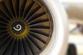 Turbine of airplane — Stock Photo