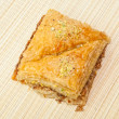 Greek desert Baklava - Stock Photo