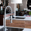 Stainless steel kitchen faucet — Stock fotografie