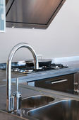 Water tap and sink — Stock Photo