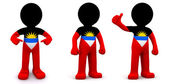 3d character textured with flag of Malawi — ストック写真
