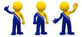 Personaggio 3d con texturizzato con bandiera della bosnia-erzegovina — Foto Stock