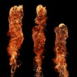 Fire pillars — Stock Photo