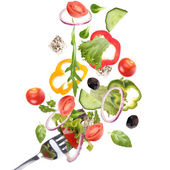 Verdura fresca in calo — Foto Stock