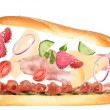 Delicious sandwich — Stock Photo #5971171