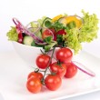 Fresh garden salad — Stock Photo