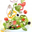 Fresh salad with ingredients — Stok fotoğraf #5971721