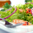 Delicious shrimps salad - Stock Photo