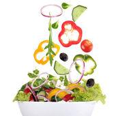 下降的新鲜蔬菜 — 图库照片