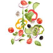 Falling fresh vegetable — Stock Photo