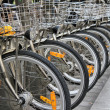 Row of bicycles - Stock Photo
