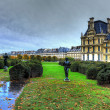 Beautiful view of Louvre palace - Stock Photo