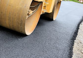 Paving machine — Stockfoto