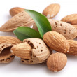Group of almond nuts. — Stock fotografie