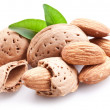 Group of almond nuts. — Stock Photo