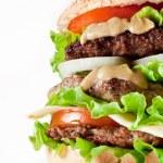 Hamburger on white — Stock Photo