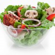 Salad with dried tomatoes, champignon and onion. — Stock Photo