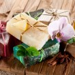 Stock Photo: Pieces of natural soap.