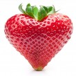 Strawberry heart. - Stok fotoğraf