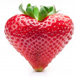 Strawberry heart. - Stock fotografie