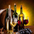 Still life with wine bottles - Stock Photo