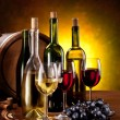 Still life with wine bottles — Stock Photo #5628180