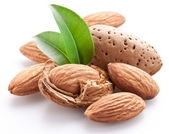 Group of almond nuts. — Photo