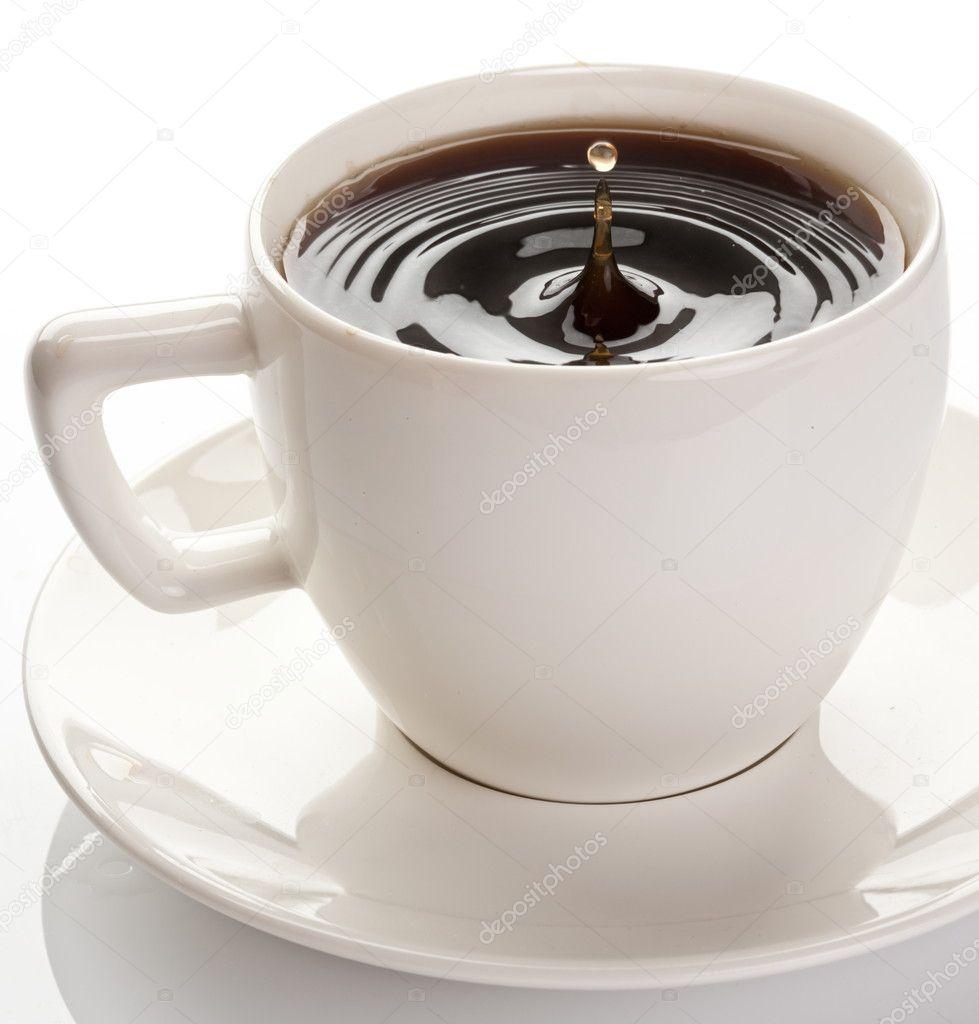 hot coffee white background - photo #39
