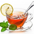 Cup tea with mint. - Foto de Stock  