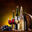 Still life with wine bottles — Stock Photo #5965563