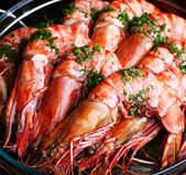 Boiled shrimp — 图库照片
