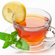 Cup tea with mint. - Stok fotoğraf