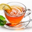 Cup tea with mint. - Stockfoto