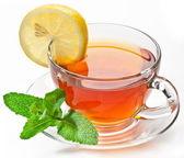 Fincan çay nane ile. — Stok fotoğraf