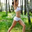 Stockfoto: Exercises outdoors.