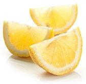 Lemon slice on a white background. — Stock Photo