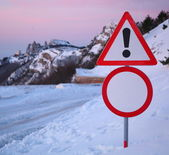 Restrictive road signs. — Stock Photo