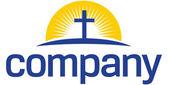 крест с логотипом солнца — Cтоковый вектор