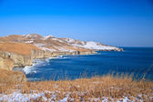 Rocky seashore in winter — Stock Photo