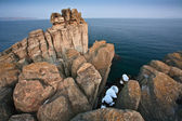 Wild rocky seashore — Stock Photo