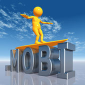 MOBI Top Level Domain — Stock Photo