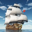 French Sailing Ship — Stock Photo