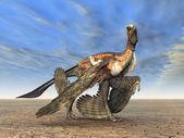 Dinosaur Microraptor — Stockfoto